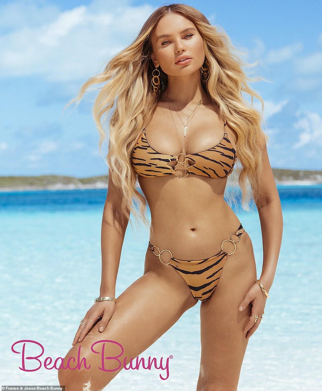Elena Matei enjoying the beach