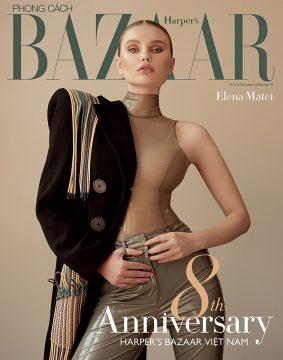 Elena Matei on eight anniversary issue of Bazaar cover
