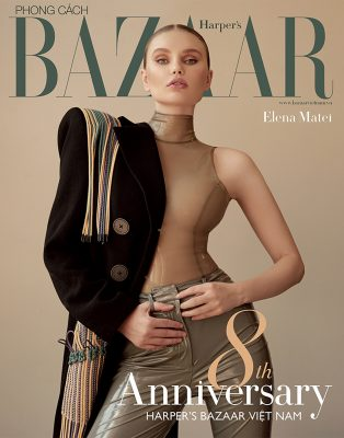 Elena Matei on eight anniversary issue of Bazaar cover